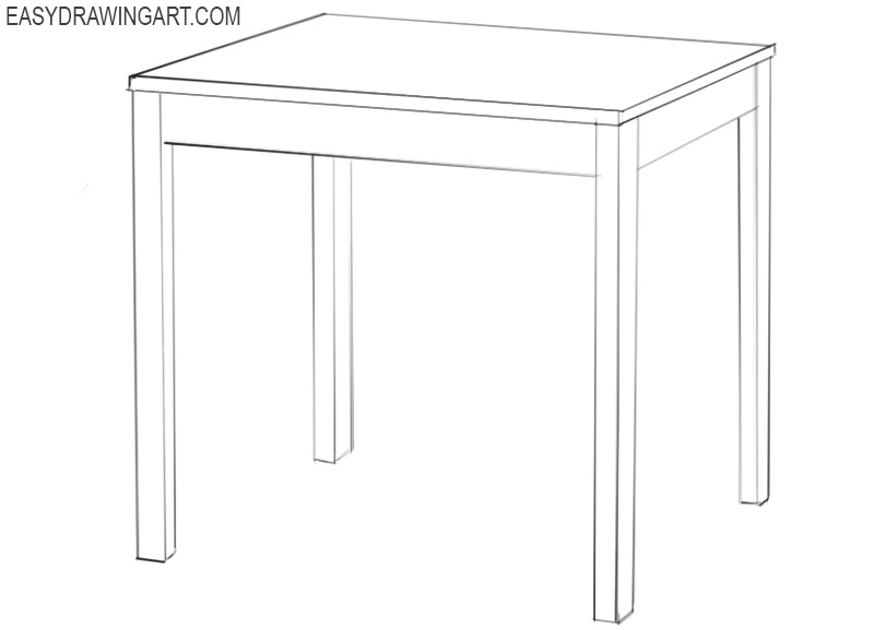 how to draw a table for beginners