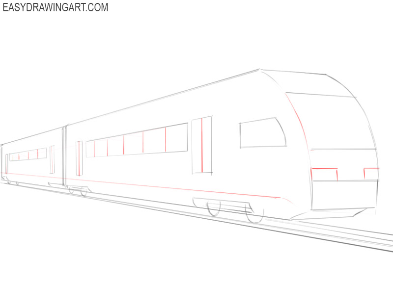 how to draw a train in easy steps