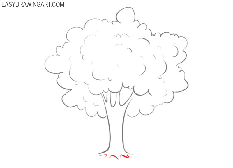 how to draw a tree pic