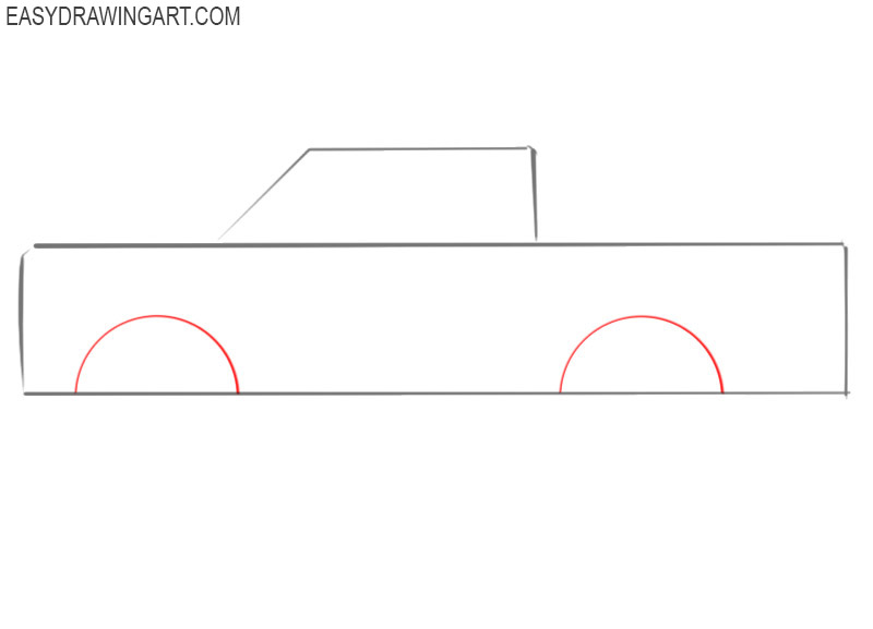 how to draw a truck simple