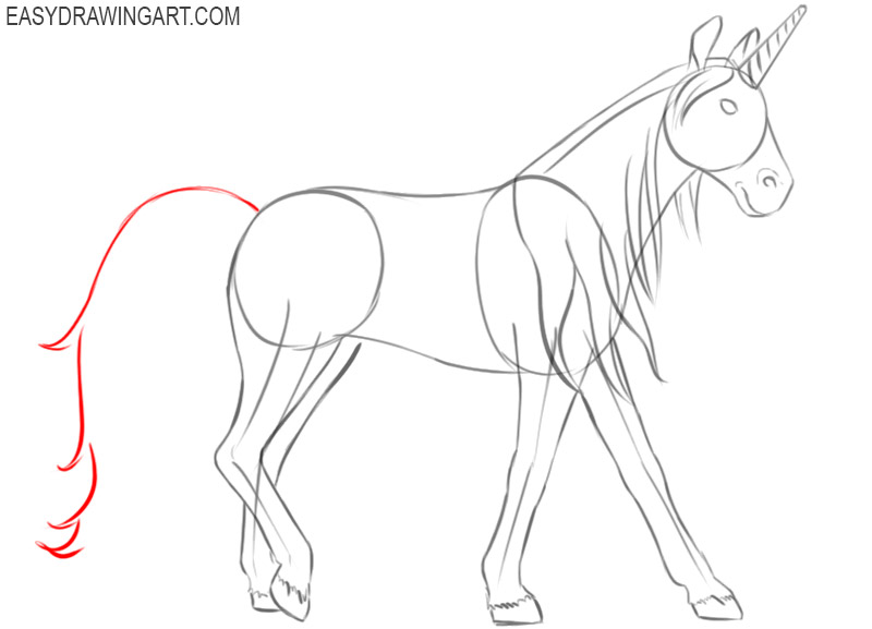 how to draw a unicorn easy cute