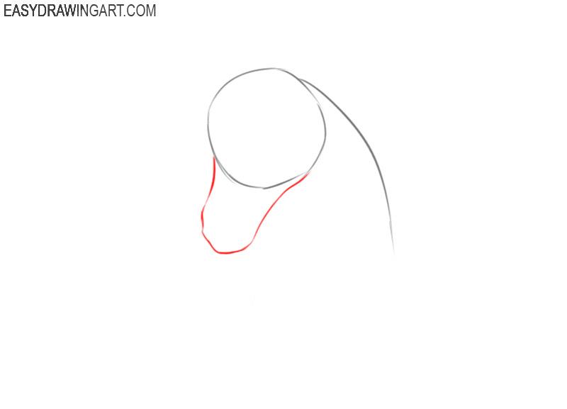 how to draw a unicorn head cartoon