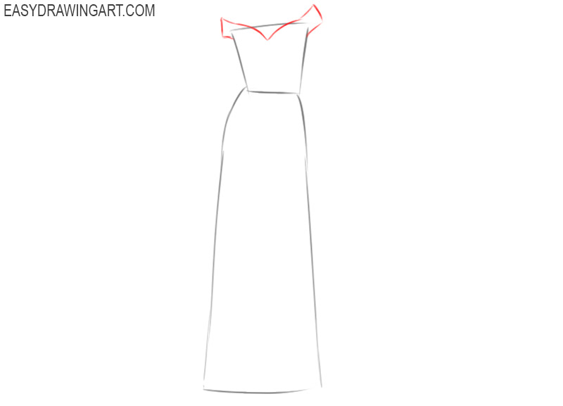 how to draw a wedding dress step by step for beginners