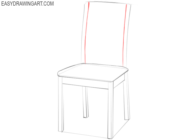 how to draw a wooden chair