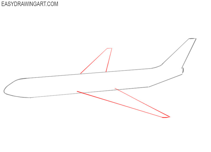 how to draw an airplane easy step by step