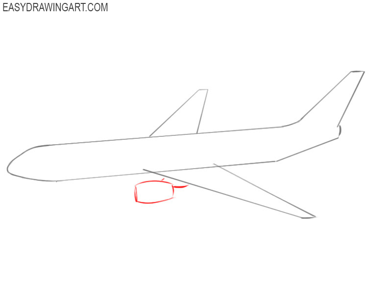 how to draw an airplane flying