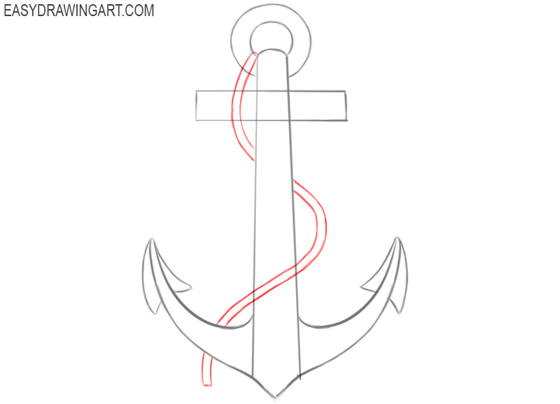 how to draw an anchor easily