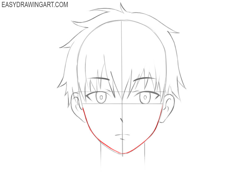 how to draw an anime boy face step by step