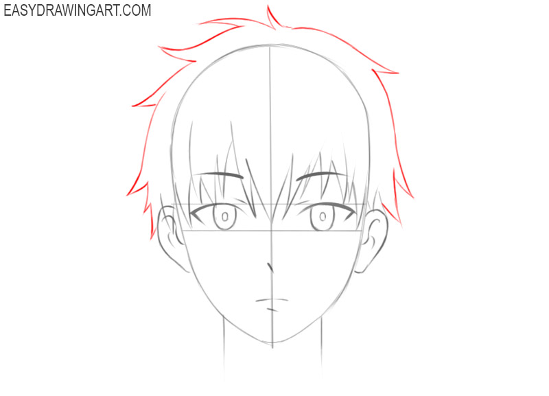 how to draw an anime face easy