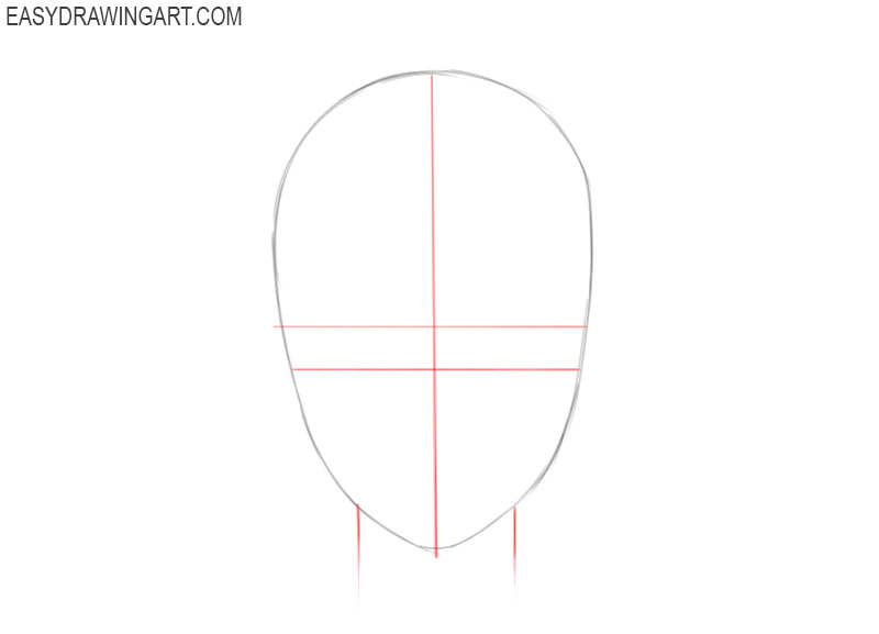 how to draw an anime face for beginners
