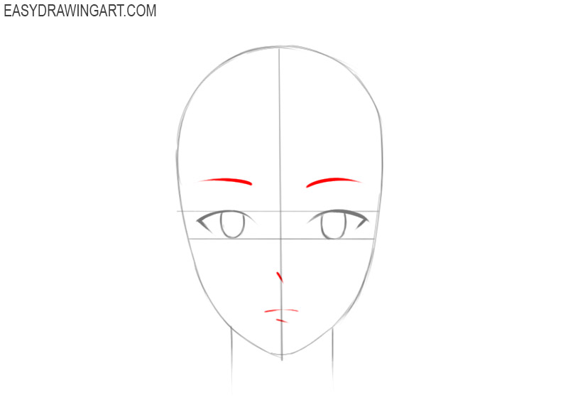 how to draw an anime face step by step