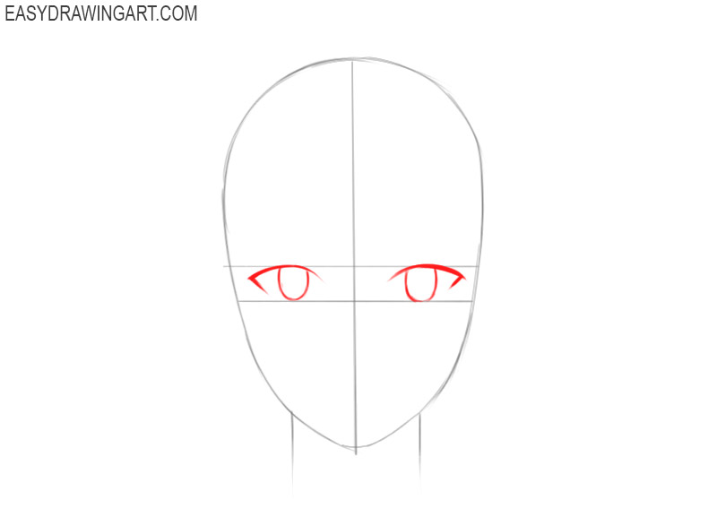 how to draw an anime guy face