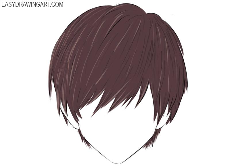 how to draw an anime hair