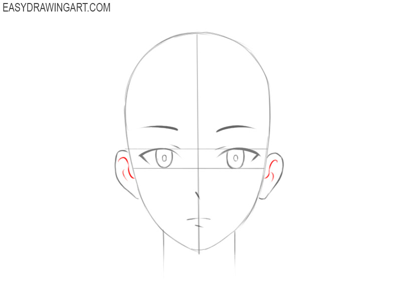 how to draw an anime head and face