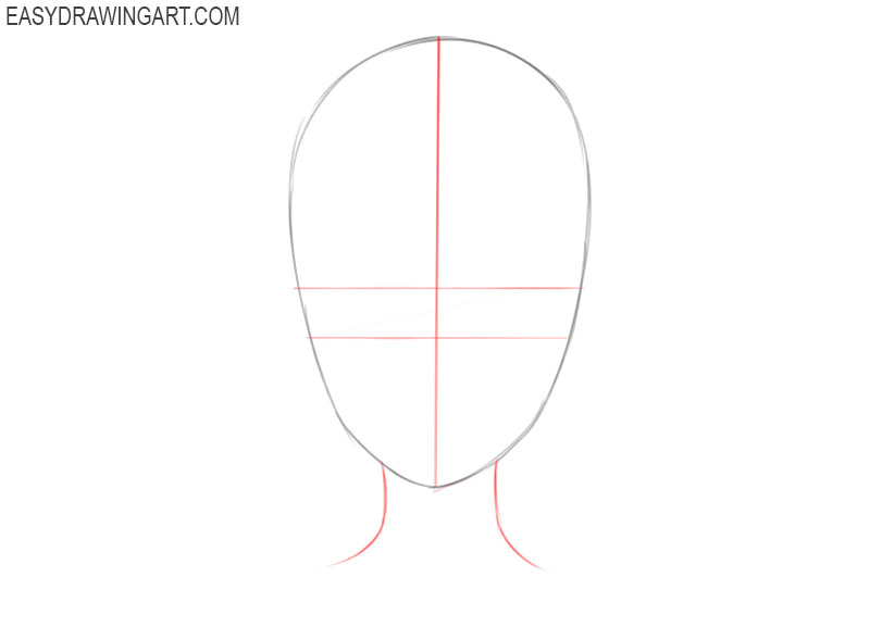 how to draw an anime head for beginners