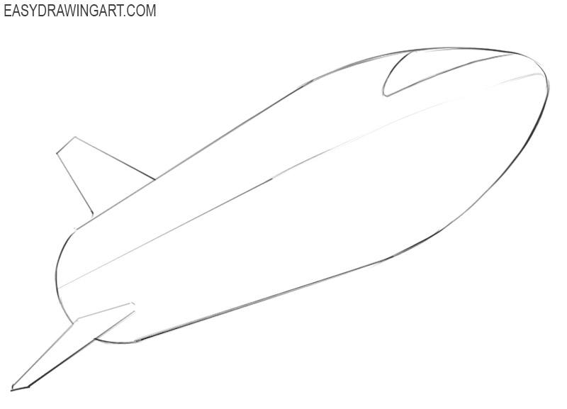 how to draw an cartoon spaceship
