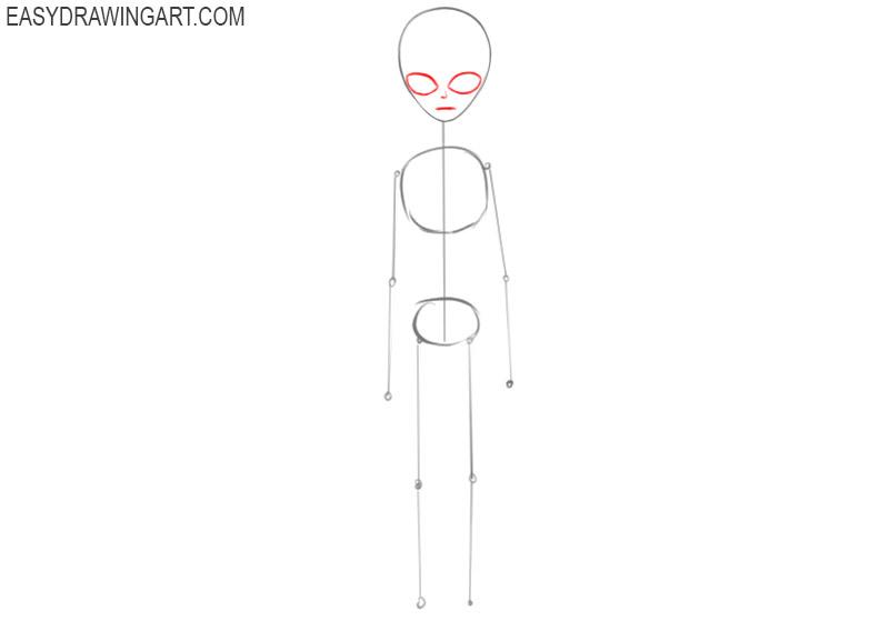 how to draw an easy cartoon alien