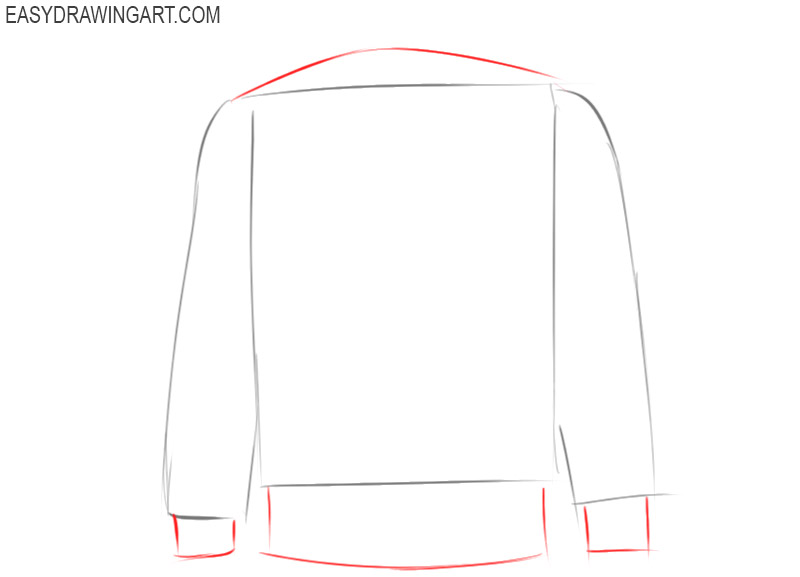 how to draw an easy jacket