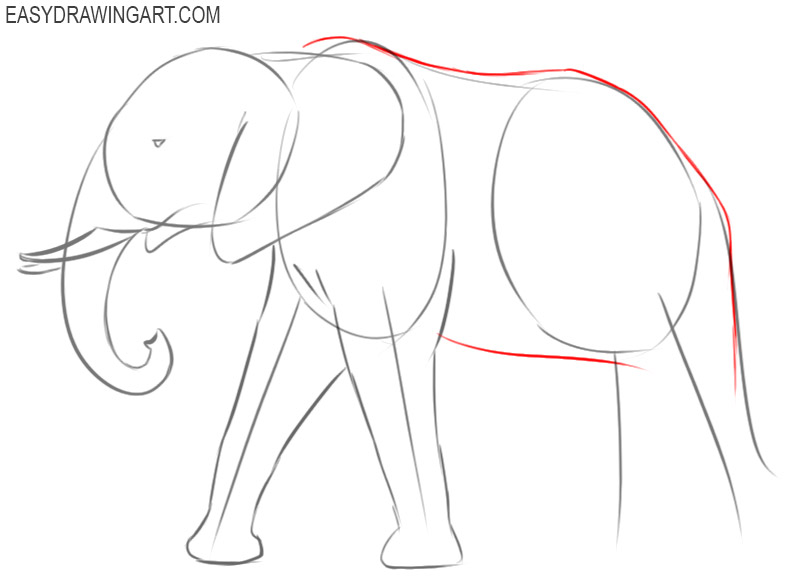 how to draw an elephant step by step easy