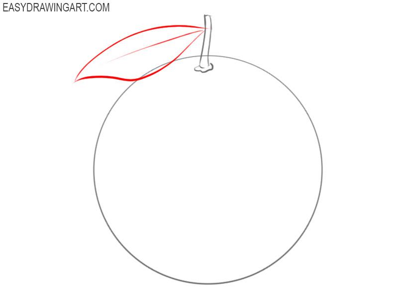 how to draw an orange fruit