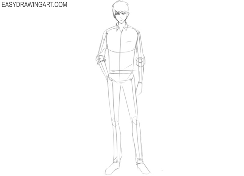how to draw anime cartoon characters step by step