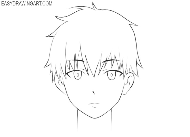 how to draw anime cute face