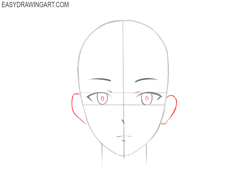 how to draw anime face and hair
