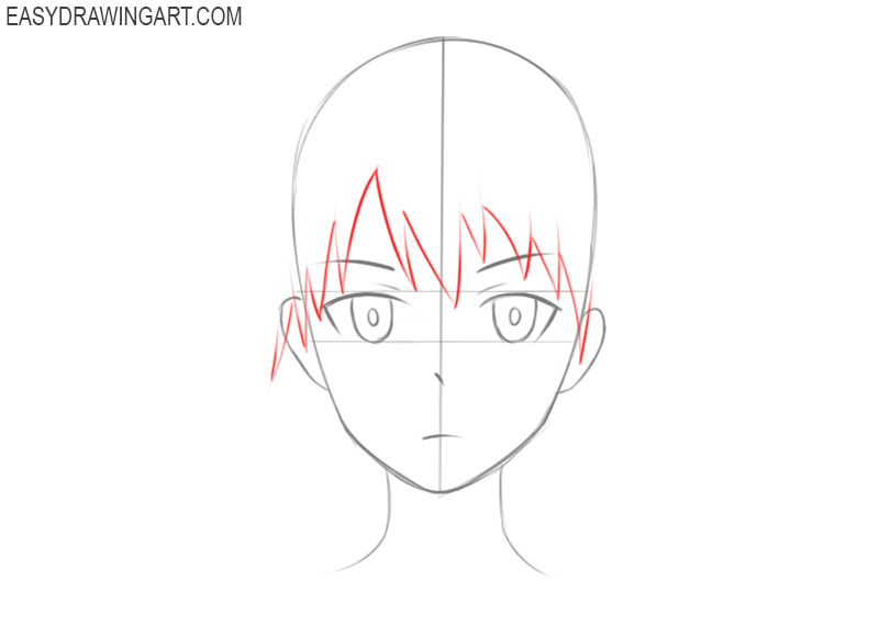 How To Draw An Anime Head Easy Drawing Art