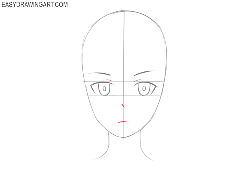 how to draw anime faces for beginners