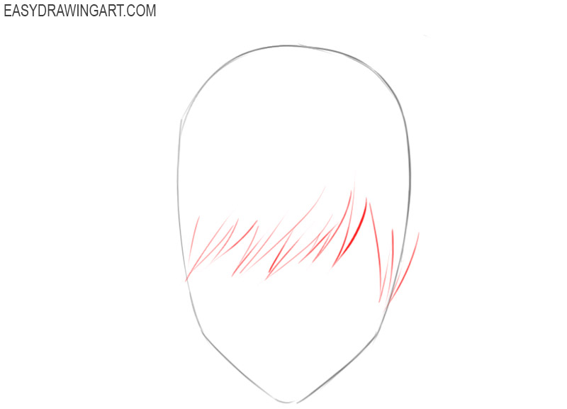 how to draw anime hair for beginners
