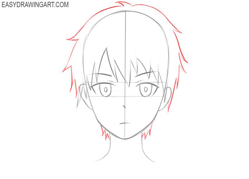 how to draw anime manga head