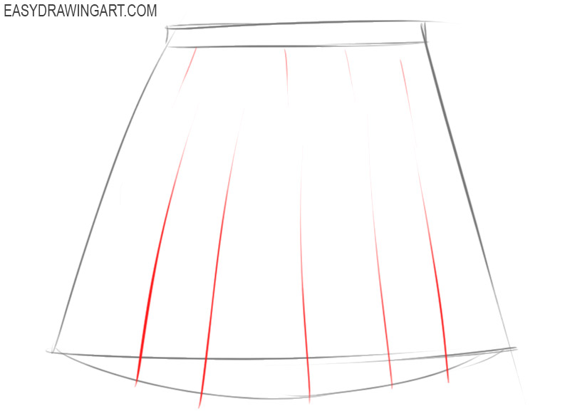 how to draw basic skirt