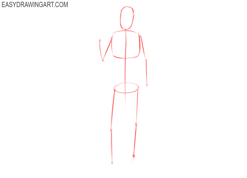 how to draw basketball player easy