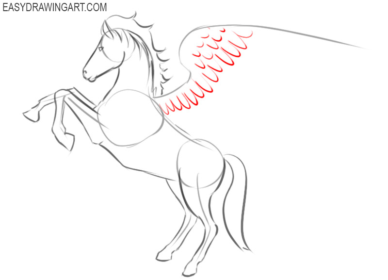 how to draw beautiful pegasus