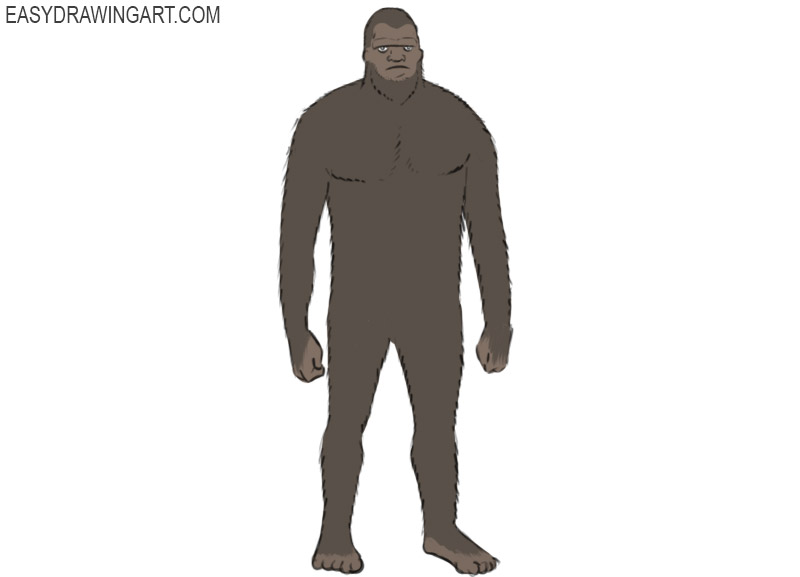 how to draw bigfoot