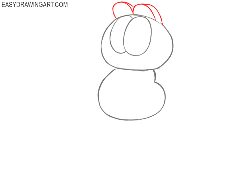 how to draw cartoon garfield step by step