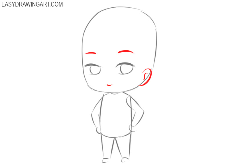 how to draw chibi characters boy