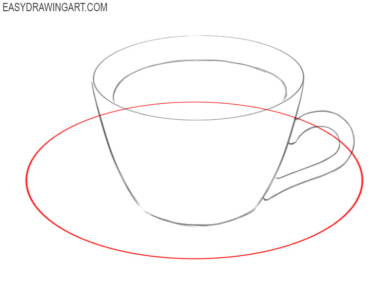 how to draw coffee in a cup