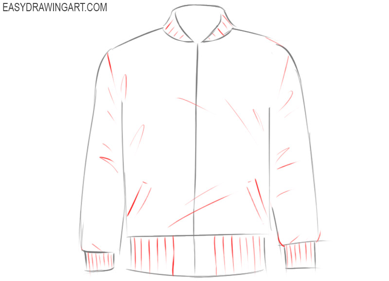 how to draw cute jacket