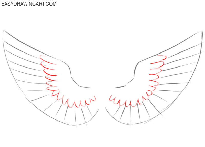 how to draw cute wings