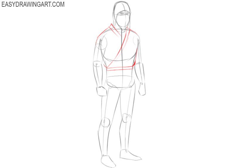 how to draw easy ninja drawings