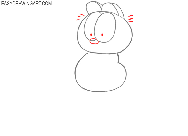 how to draw garfield cartoon