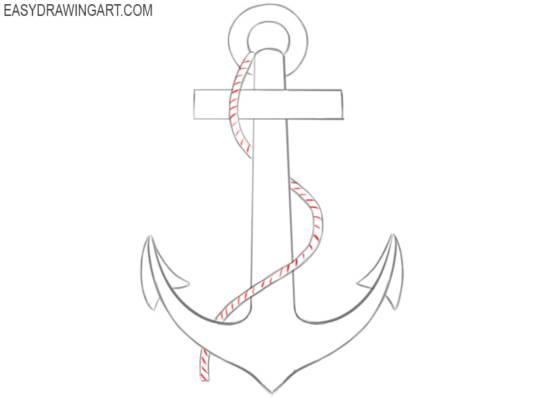 how to draw navy anchor