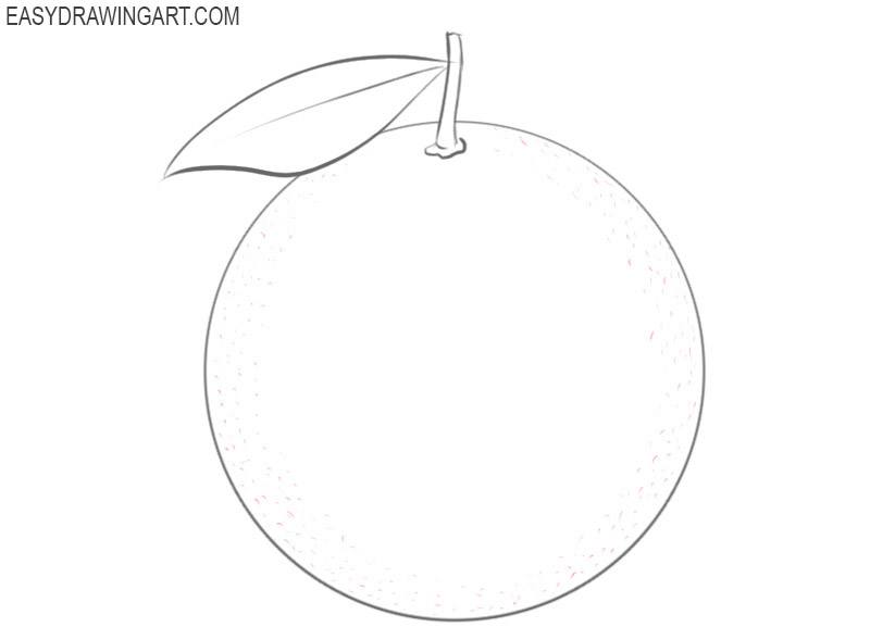 how to draw orange image
