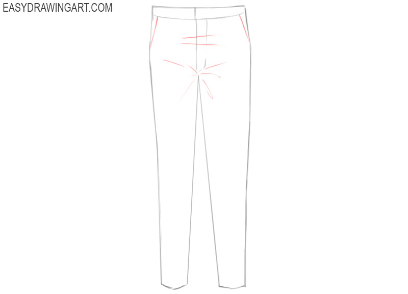 how to draw pants picture