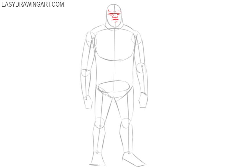 how to draw sasquatch step by step