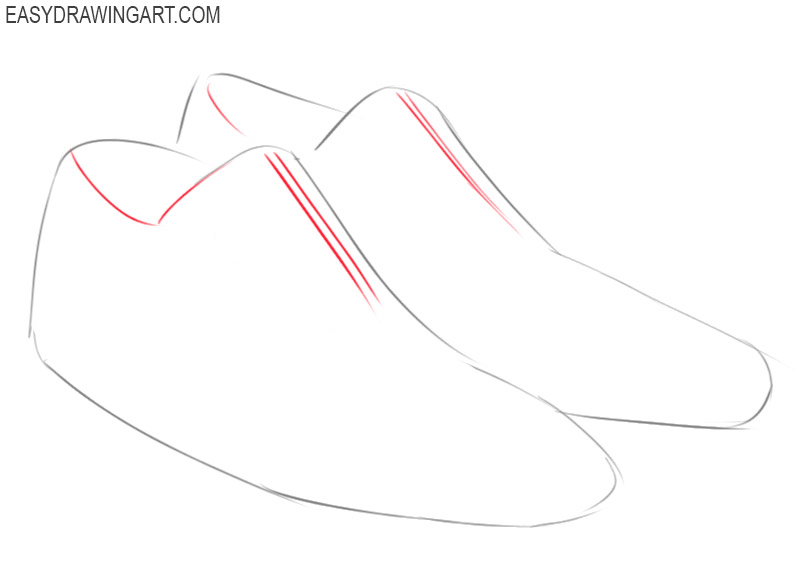 how to draw shoes by steps