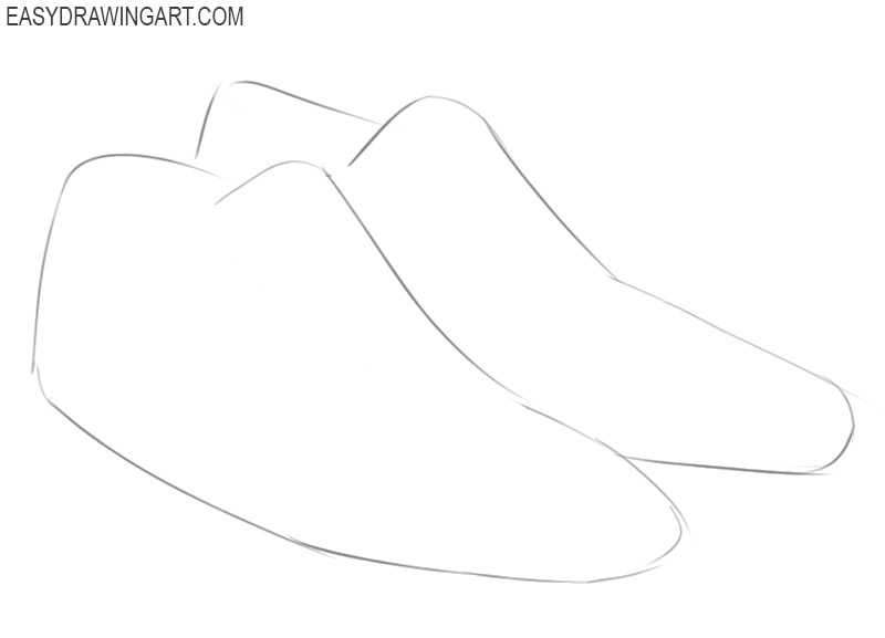 how to draw a shoes step by step