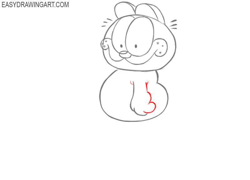 how to draw simple garfield