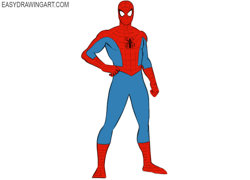 How To Draw Spider Man Easy Drawing Art How To Draw Spider Man